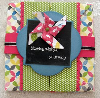 Stampin Up Box card pinwheel chalkboard
