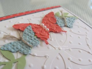 stampin up butterfly punch lattice die