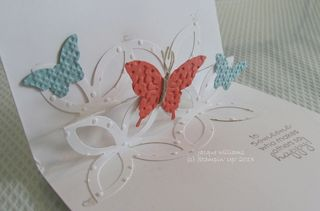 stampin up lattice die pop up card butterfly