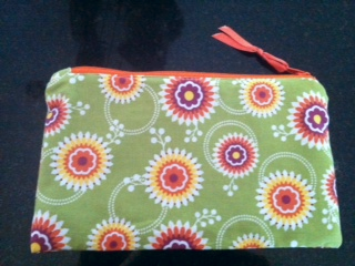 Stampin up bag front floral district fabric sewing