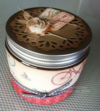 Fan fair upcycled jar candy stampin up