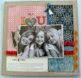 stampin up fan fair layout scrapbooking siblings just add ink
