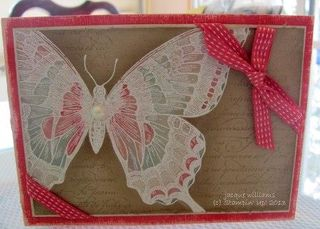stampin up vintage swallowtail emboss watercolor coredinations wash en fraincais technique idea card