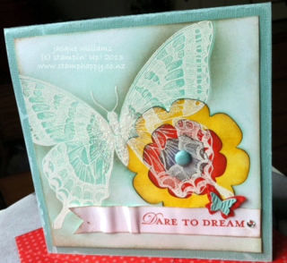 stampin up swallowtail emboss resist puzzle loving thoughts beautiful wings