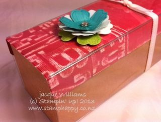 Flower Shop Gift Box Stampin Up