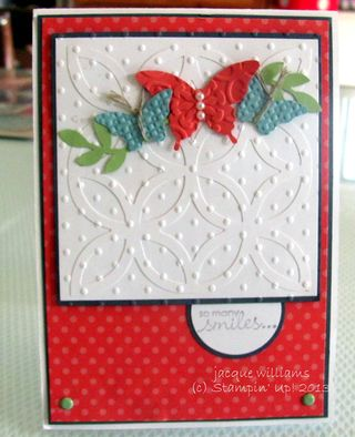 stampin up lattice die butterfly pop up