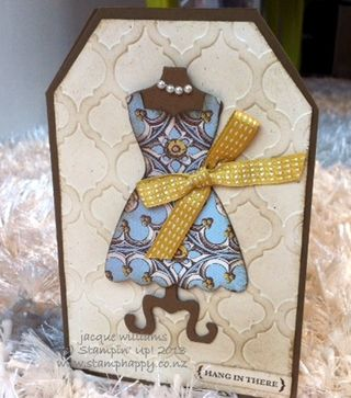stampin up soho papers dress card