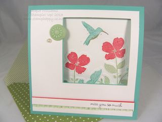stampin up wildflower meadow in color pearl window