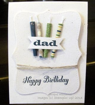 stampin up masculine birthday fathers day bring on the cake top note
