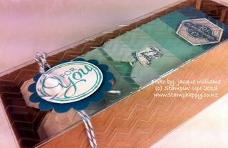 stampin up For you tag gift box