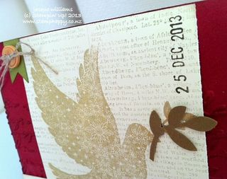 Stampin up calm christmas gold vintage dove