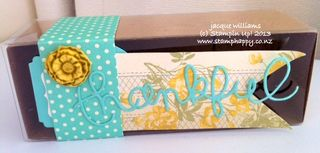 Stampin up afternoon picnic box gift thinlits clay flower