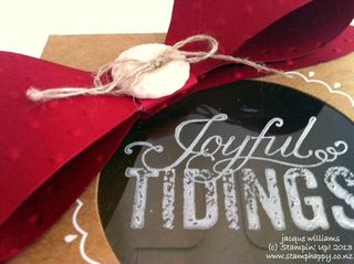 Stampin up christmas messages bowz window gift boxes