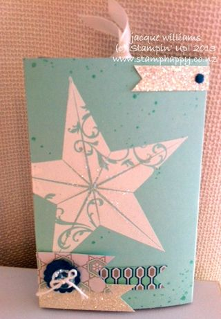 Stampin up Christmas Star Double Slider