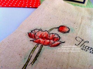 Stampin up muslin bag simply sketched
