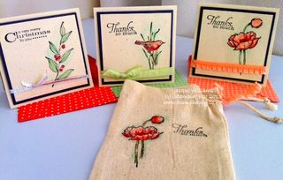 Stampin up muslin bag gift card simply sketched