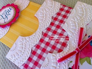 Stampin up gingham garden