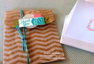 Stampin up chevron bags hello lovely