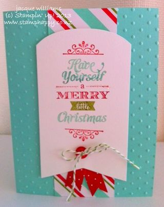 Stampin up merry little christmas pop up card