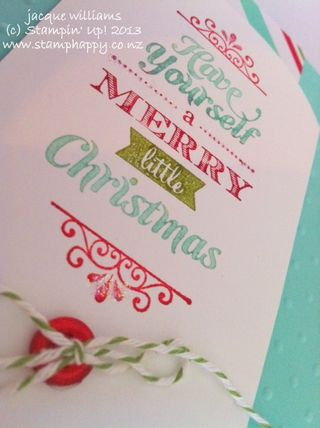 Stampin up merry little christmas kit
