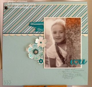 Stampin up Winter Frost layout scrapbooking