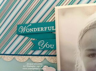 Stampin up loving thoughts scrapbooking winter layout