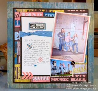 Stampin up soho subway scrapbook 2 photo layout Hello Lovely