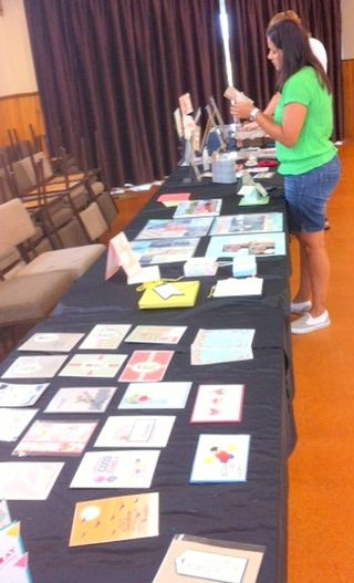 Stamp camp displays