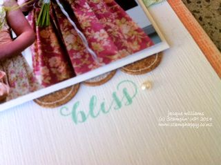 Stampin up quite the pair scrapbook layout idea clean simple