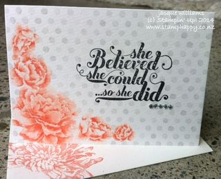 Stampin up watercolour wonder sassy salutations