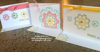 Stampin up medallion easy workshop idea quick pretty