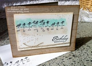 Stampin up wetlands hardwood woodgrain masculine easy workshop