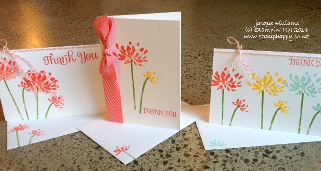 Stampin up too kind easy workhop kit notecards