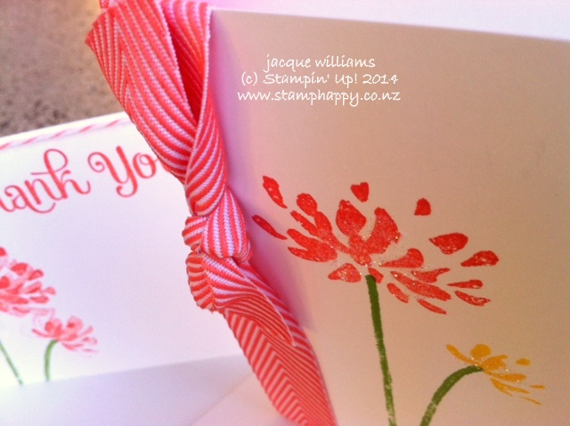 Stampin up too kind two step stamping workshop calypso coral