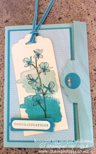Stampin up watercolor wonder scallop tag topper julia leece