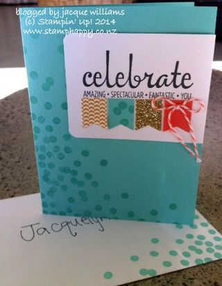 Stampin up celebrate banner punch dots
