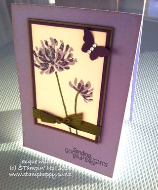 Stampin up too kind elegant eggplant bitty butterfly
