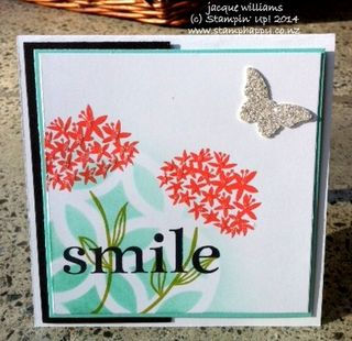 Stampin up simple stems stencil