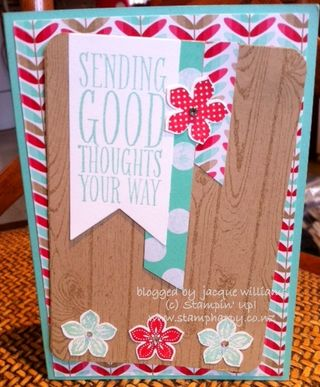 Stampin up fresh prints petite petals