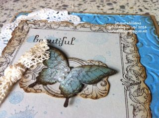 Stampin up vintage papillon potpourri antique brad