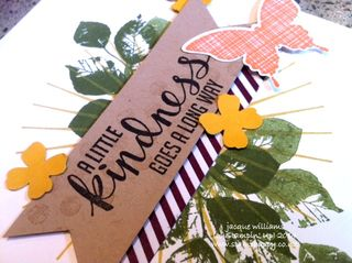 Stampin up kind eclectic hello honey