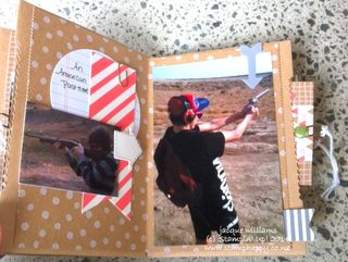 Stampin up hip hip hooray album layout mini