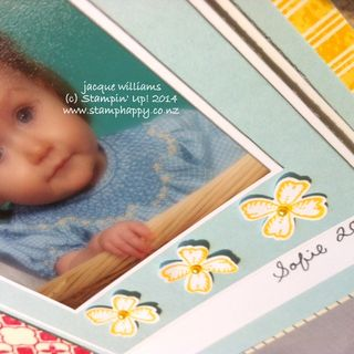 Stampin up something to say scrapbooking layout crushed curry baby