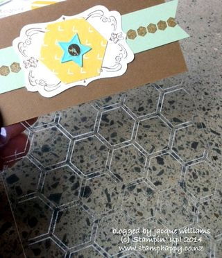 Stampin up hexagon folder staz on treat bag