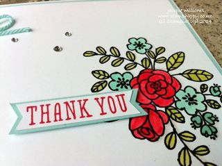 Stampin up clean simple thank you so very grateful
