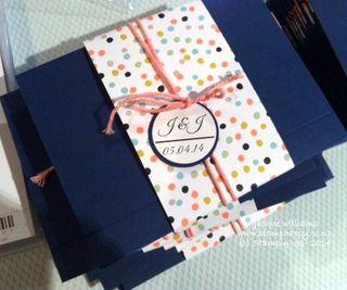 Stampin up petal parade wedding invitations