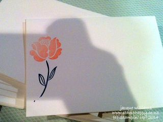 Stampin up wedding invitations simple stems