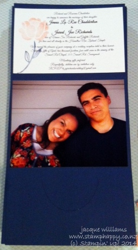 Stampin up wedding invitation