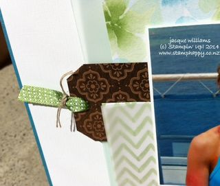 Stampin up watercolor wonder scrapbookign layout natural composition tag topper punch