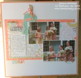 Stampin up sweet sorbet layout